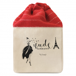 Nude Experience - My Valentine - pochon vernis - idée cadeau - tissu bio - coffret cadeau