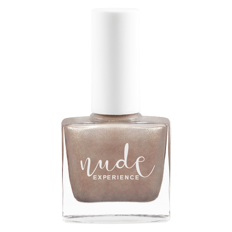 Nude Experience - Moon - nails polish grey-taupe -  free formula - Vegan made in france