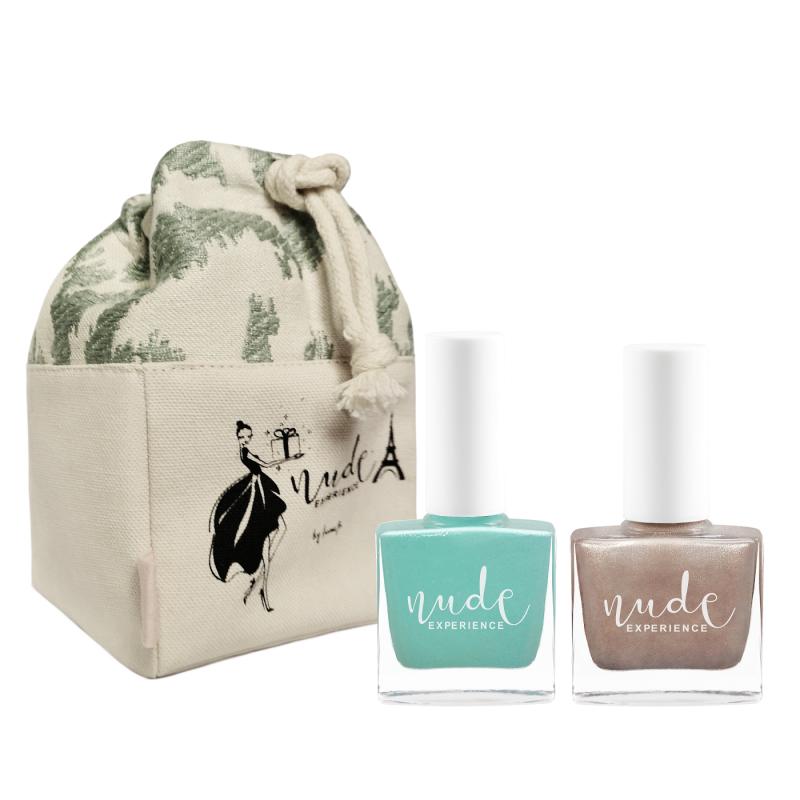 Nude Experience - My Precious - pochon vernis - idée cadeau - tissu bio - coffret cadeau