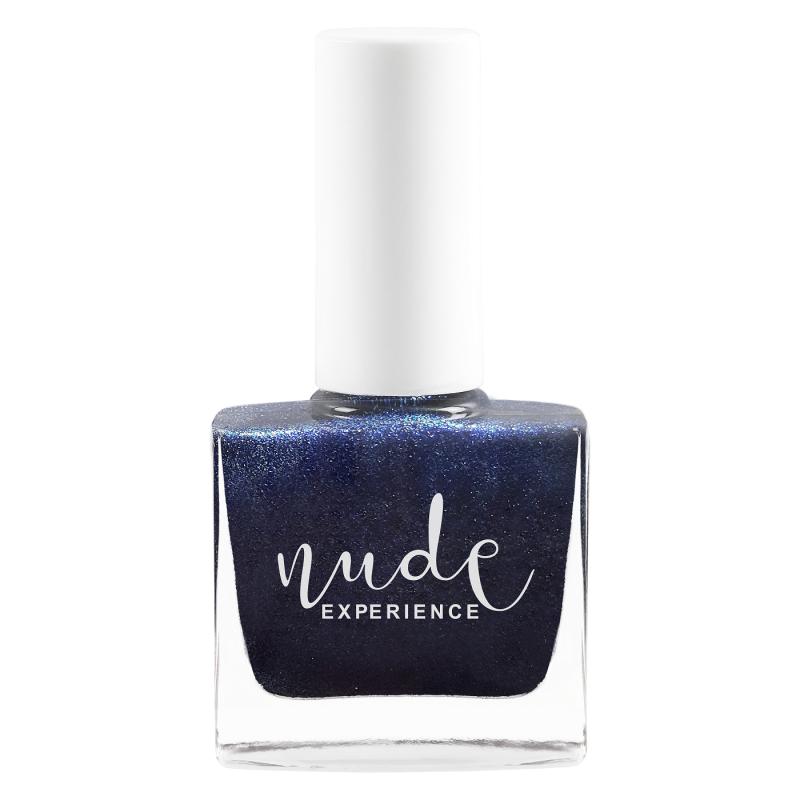 Nude Experience - Vernis à ongles Vaadhoo - Teinte nacrée bleu nuit - 6 free Vegan Cruelty Free