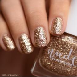 Glitter nails peel off