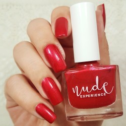Pearly Red Manicure