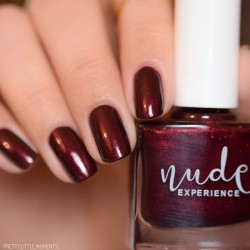 Pearly dark red nails