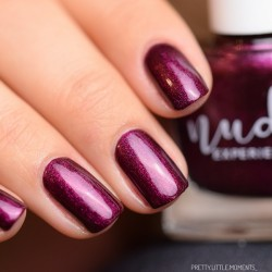 Pearly purple nails