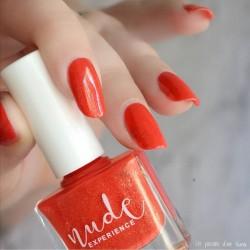 Pearly orange nails