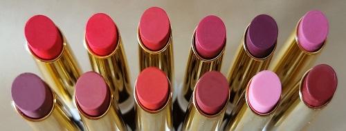 Gamme de 12 teintes de rouges à lèvres naturels